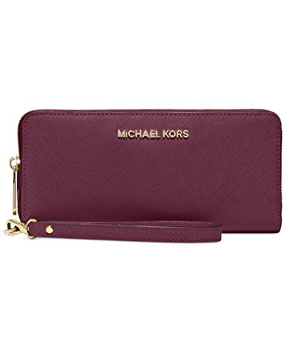 Michael Michael Kors Womens Bedford Travel Continental Leather Wallet, Purple by Michael Kors