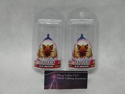 BlingLights Powersports H6M 4150K Hyper Plasma Xenon Halogen Light Bulbs Pair