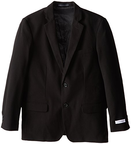 Calvin Klein Big Boys' Bi-Stretch Blazer, Black, 10