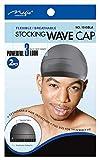 Magic Stocking Wave Cap Pack 2 Caps Black Hair Du