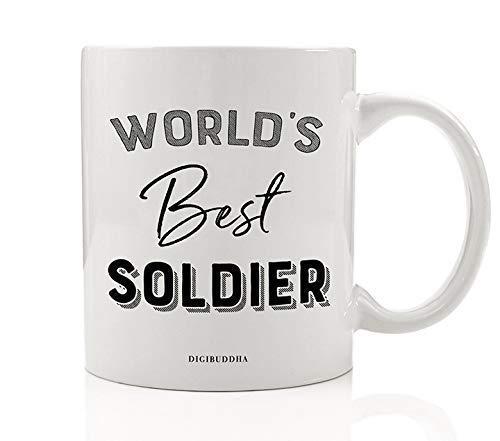 worlds best soldier coffee mug gift idea military service member active duty veteran serviceman servicewoman dad