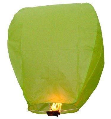 Pack of 20 Green Sky Lanterns Chinese Lanterns
