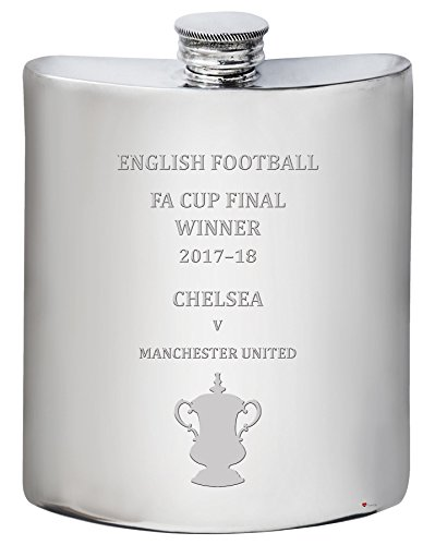Chelsea English FA Cup Winner 2017-18, 6oz Pewter Hip Flask