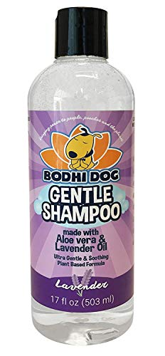 New Soothing Gentle Dog Shampoo | Aloe Vera and Lavender Oil | All Natural Moisturizing Pet Dog Puppy and Cat Wash - Made in USA - 1 Bottle 17oz (503ml)