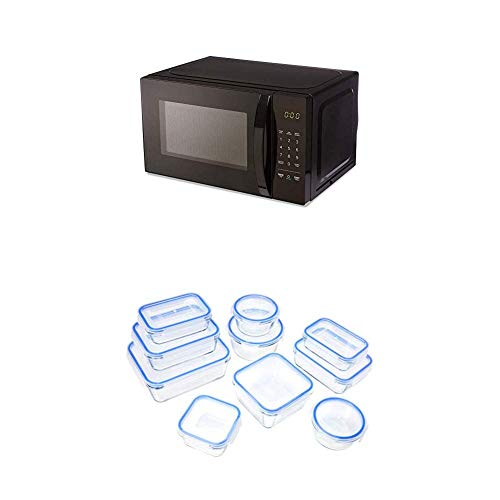 Price comparison product image AmazonBasics Microwave + Glass Locking Food Storage Containers (20-Piece Set)