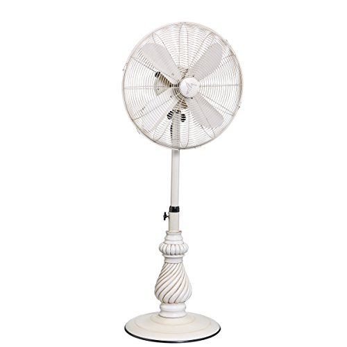 DecoBREEZE Adjustable Height Oscillating Outdoor Pedestal Fan, 18 In, Providence from Deco Breeze