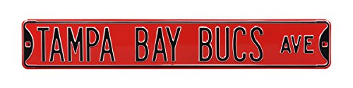 NFL Tampa Bay Buccaneers Steel Signsteel Avenue Signs, Team Color, 36