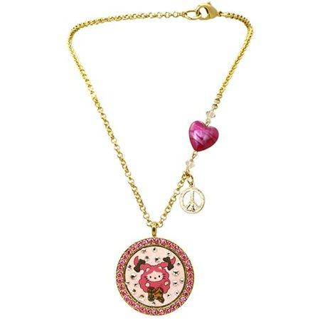 Tarina Heart Tarantino By Necklace (Tarina Tarantino Peace, Love & Sparkle Large Pendant Necklace)