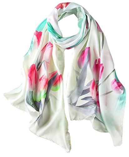 las Seda Anti 5 mujeres Mezclada colorida Todas Uv colores bufanda de Impresi 7IY5qOxq