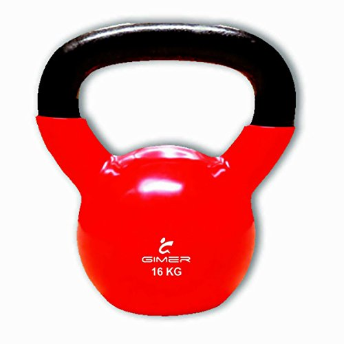 GIMER 13/034 WEIGHTS BALL STEM KETTLEBELL CROSSFIT FITNESS 16 KG