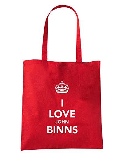 JOHN I BINNS Shopper Rossa Borsa TKC3890 LOVE Z4XSnwq