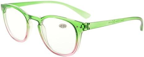 Eyekepper Fashion Readers Womens Reading Glasses Green-Pink Frame, 2.50