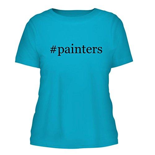 #painters - A Nice Hashtag Misses Cut Women's Short Sleeve T-Shirt, Aqua, - Painter Facebook