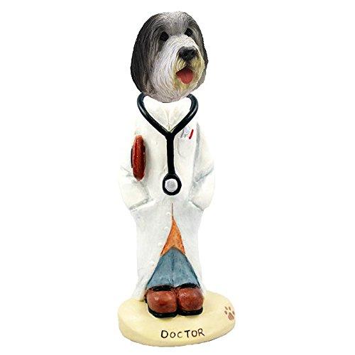(Bearded Collie Doctor Doogie Collectible Figurine )