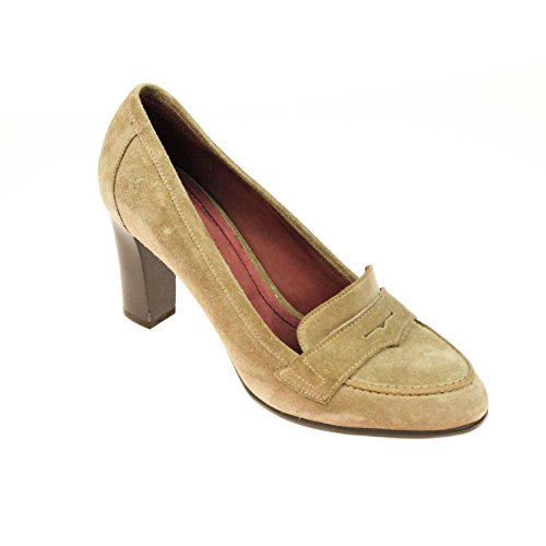 Lottusse Damen Pumps Wildleder Taupe