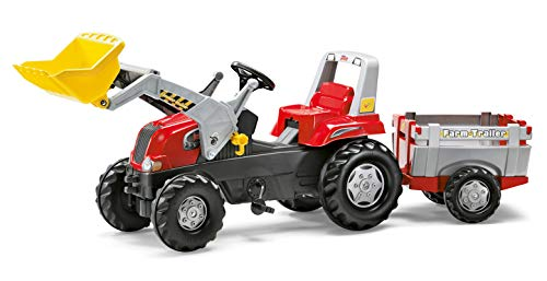 Rolly Toys Junior Front Loader RT Tractor, Red