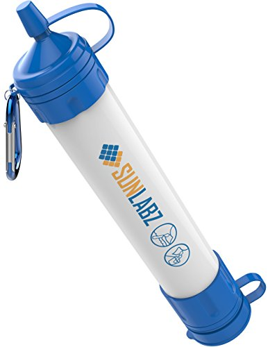 SunLabz Water Filter Straw – Chemical-Free Survival Water Purifier with Premium 0.01micron Ultra Filtration Membrane