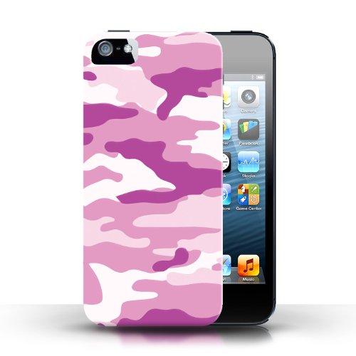 Etui / Coque pour Apple iPhone 5/5S / Rose 2 conception / Collection de Armée/Marine militaire/Camouflage