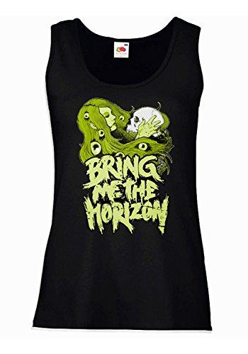 "Camiseta de tirantes mujer ""Bring Me The Horizon"" - Green artwork 100% algodòn LaMAGLIERIA"