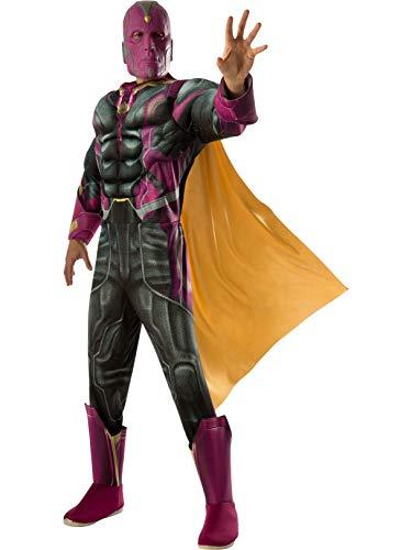 Rubie's Costume Co Marvel Men's Captain America: Civil War Deluxe Muscle Chest Vision Costume ()
