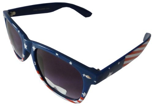 Patriotic USA American Flag Retro Classic Sunglasses USA Glasses (Style 8, - Pictures Bans Of Ray Sunglasses