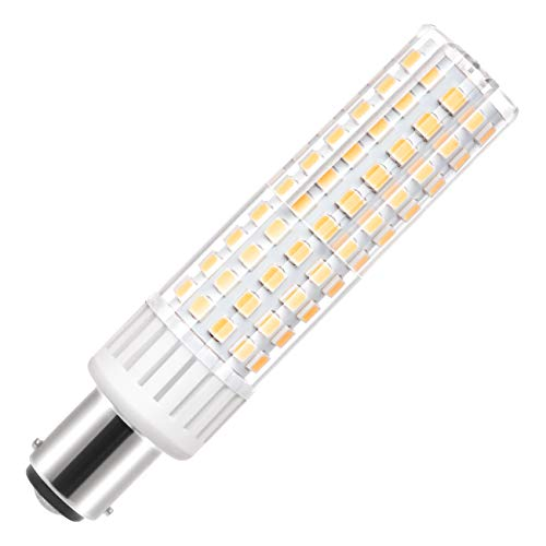 Ba15d Led Light Bulb 120V 8.5W 1050 Lumen Double Contact Bayonet Base Led Bulb 75W 100W Halogen Replacement, Warm White Non-Dimmable