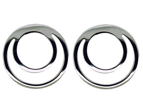 Boucles d'oreille Femme - E-10411 - Or blanc (9 cts) 2.1 Gr