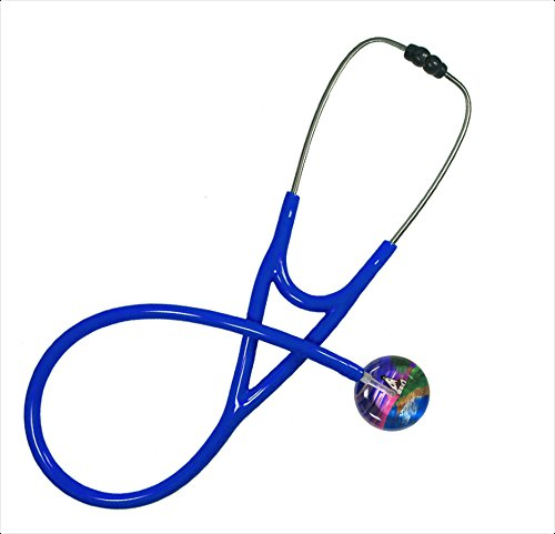 Ultrascope Adult Stethoscope, Lighthouse Design, Royal Blue Tubing