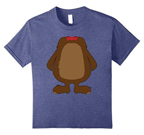 Kids Funny Bear Costume Shirt - Hilarious Halloween Teddy Gift 8 Heather Blue