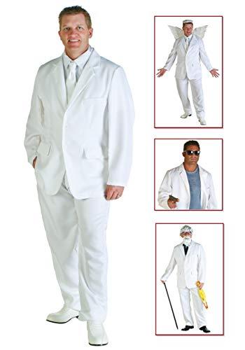 Plus Size White Suit Costume -