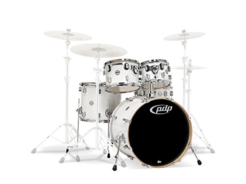PDP By DW 5-Piece Concept Maple Shell Pack with Chrome Hardware Pearlescent White