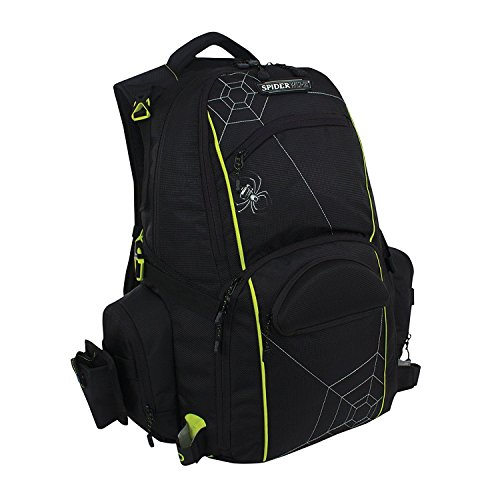 Spiderwire Fishing Tackle Backpack W/ 3 Medium Utility Boxes - Spider Sunglasses