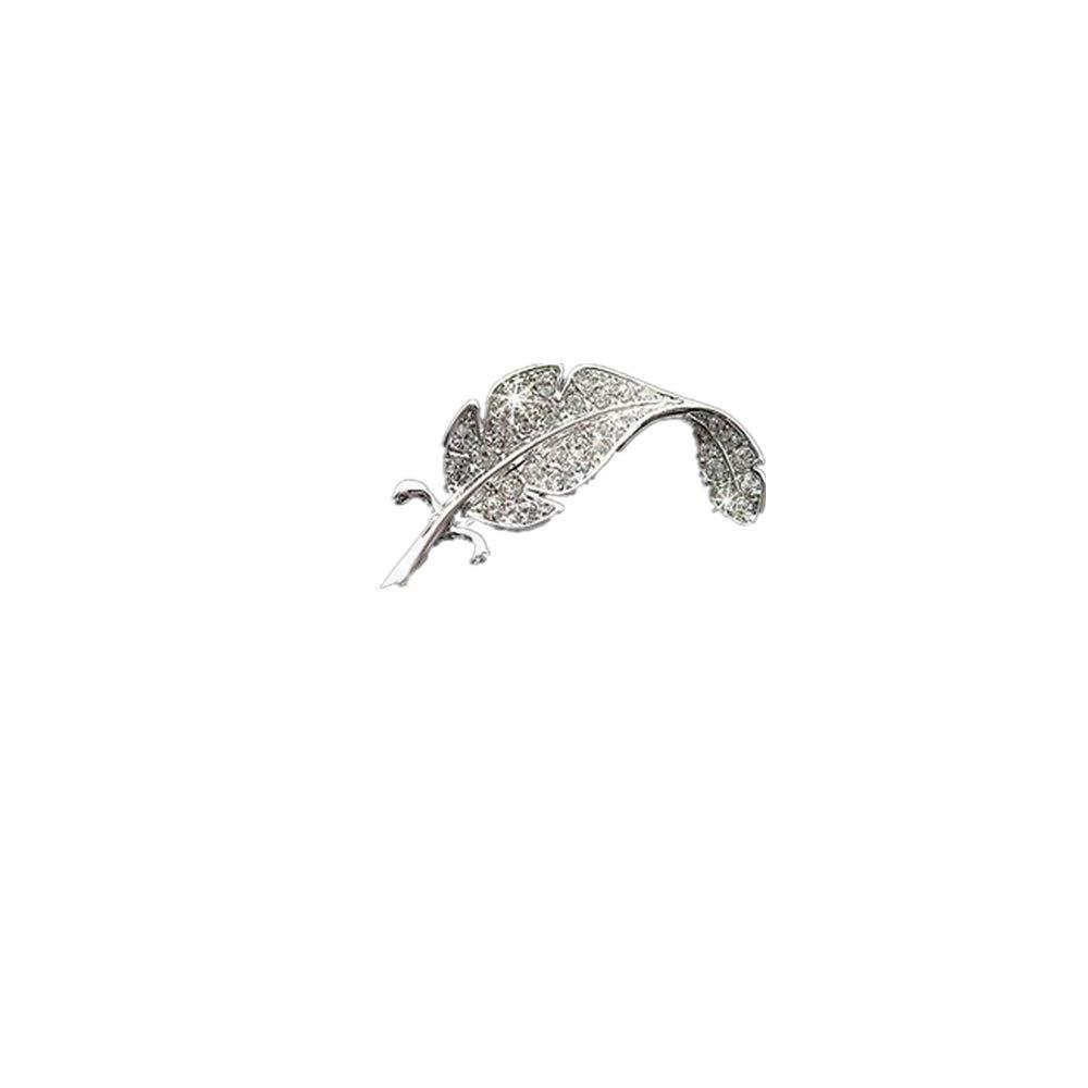 0190c5e9f Amazon.com: Fainosmny Women Brooch Valentine Gifts New Retro Vintage Cute  Beautiful Feather Leaf Mini Cute Brooch Pin Silver: Clothing
