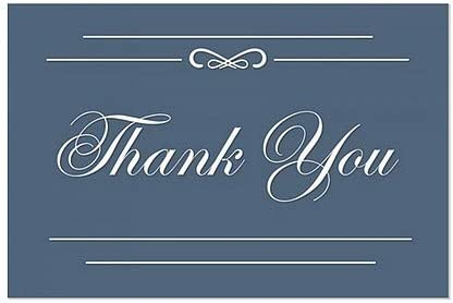 36x24 Thank You CGSignLab Classic Navy Window Cling