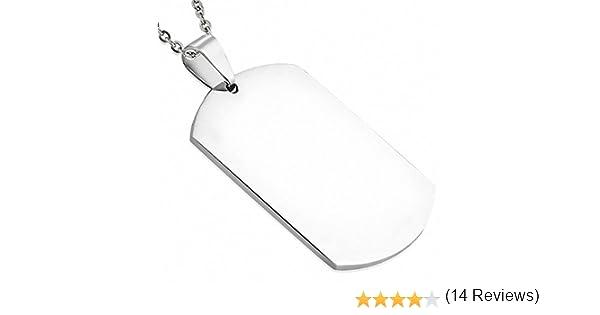 Colgante para hombre placa militar que pemite el grabado con cadena para hombre.: Amazon.es: Joyería