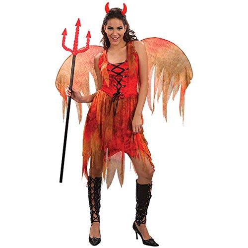 Ladies Halloween Devil Fairy Onesize (US 4-10) (Onesize (US 4-10), Red)