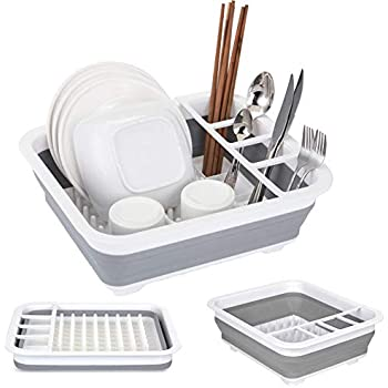 Amazon.com: Collapsible Dish Drainer Portable Drying Rack