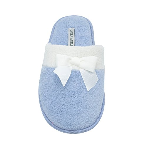 Scuff Ladies Terry Sizes amp; Slipper see More Bow Ashley Colors Blue Laura qxwHS5