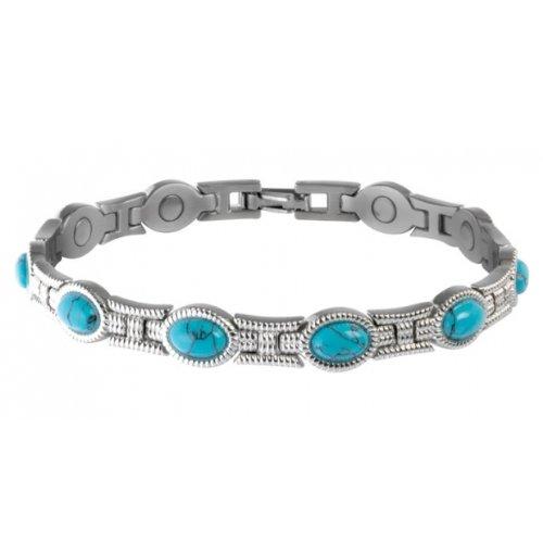 Sabona Rope Bracelet - Lady Turquoise Magnetic Bracelet-Small (6.5)