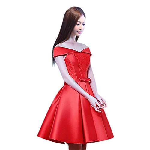 Linie Drasawee Kleid A Rot Damen CwCXxqpRT