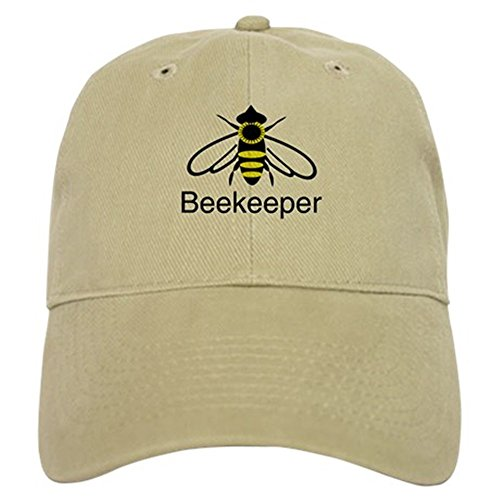 Beekeeper Baseball Cap with Adjustable Closure, Unique Printed Baseball Hat Khaki