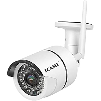 ICAMI 720P HD 36ir IP Camera WIreless Outdoor Night Vision SD Card Record Wifi Security Camera Waterproof with Motion Detection