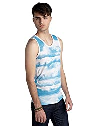 Chip & Pepper® California Allover Wave Tank in Blue and White (Medium)