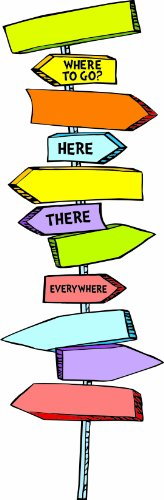 (Eureka Back to School  Dr. Seuss Directional Signs Bulletin Board and Classroom Decorations,  8pc, 6.5'' W x 26'')