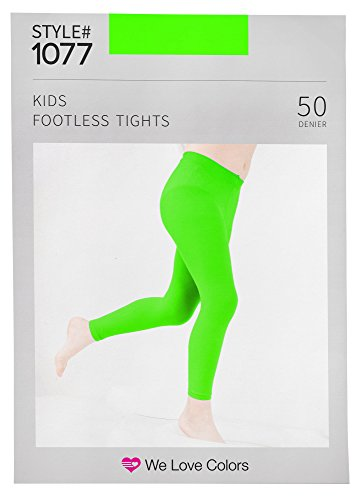 Soft and Opaque Kids Microfiber Footless Tights - 30 Colors to choose! - We Love Colors - Ages 6 months - 14 Years