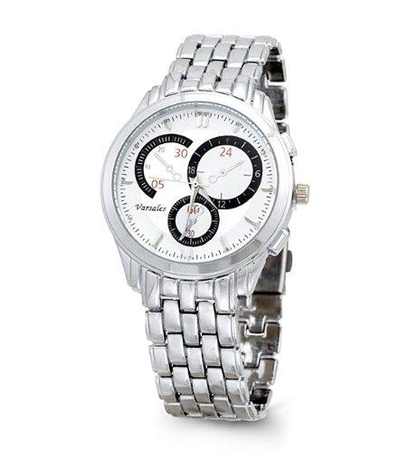 Mens Black Silver Quartz Fashion Bracelet Wrist Watch, Watch Central
