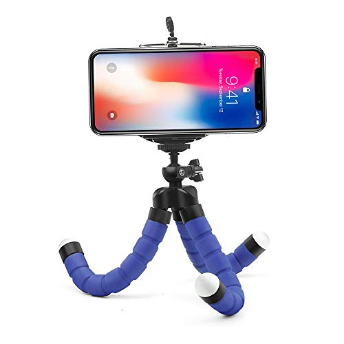 Mini Flexible Sponge Octopus Tripod for iPhone Samsung Xiaomi Huawei Mobile Phone Smartphone Tripod for Camera Accessory (Blue) by Angelstore Live Tripods (Image #3)