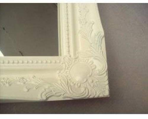 NEW LARGE 34 X 24 SHABBY CHIC STYLE SWEPT BEVEL GLASS WALL//HALL MIRROR 6 COLOURS AVAILABLE SOFT CREAM PLEASE USE THE DROP DOWN AT THE SIDE OF THE PHOTOGRAPH TO SELECT THE COLOUR YOU REQUIRE