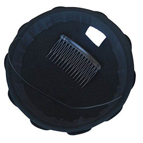 A084 Pillbox Derby Hat Black Fascinator Wool Wedding Party Dress Petal Womens qIpgqz