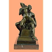 ...Handmade...European Bronze Sculpture Erotic Art Sexual Great Sex Action Artwork Marble Base F(1XEPA-112)Statues Figurine Figurines Nude Office & Home Décor Collectibles Prime Day Sale Deal Gifts